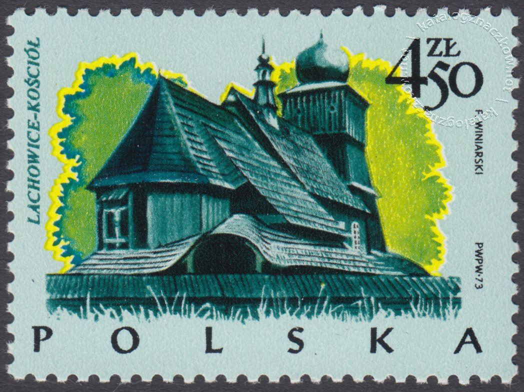 Polskie budownictwo drewniane znaczek nr 2157