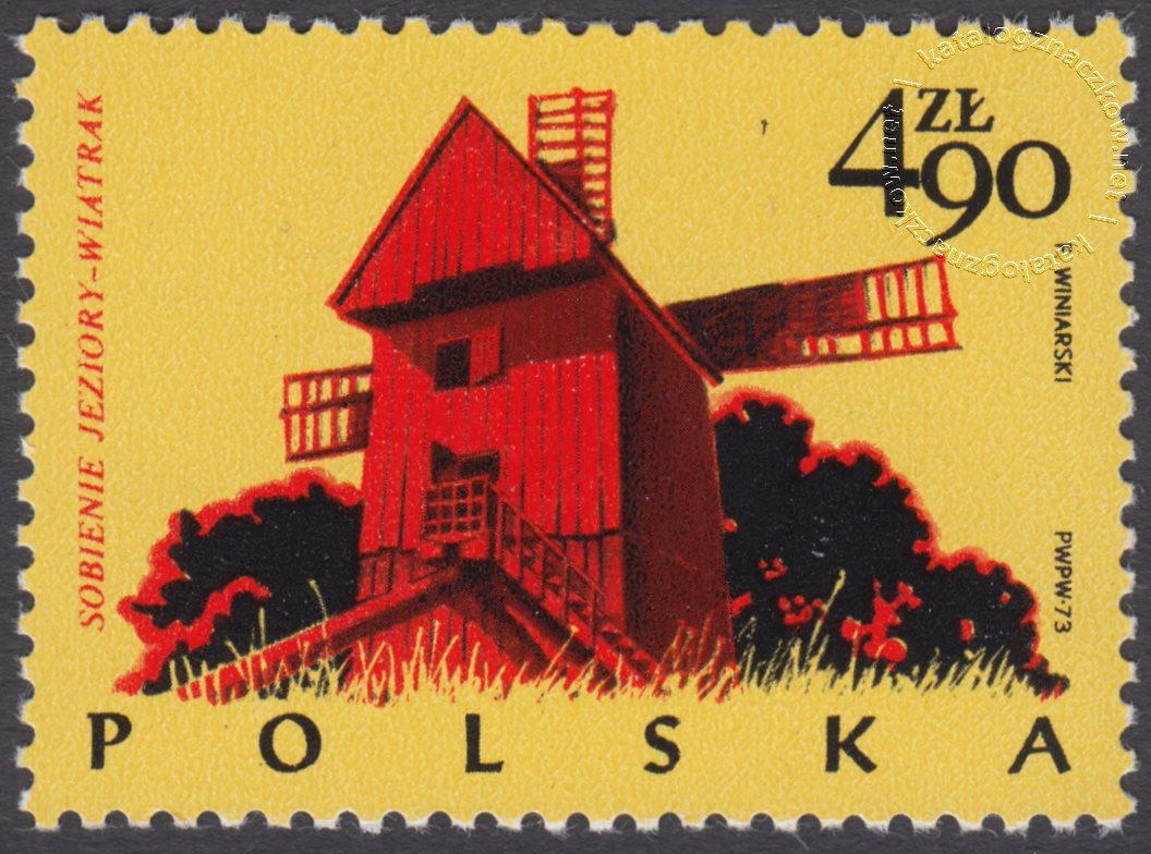Polskie budownictwo drewniane znaczek nr 2158
