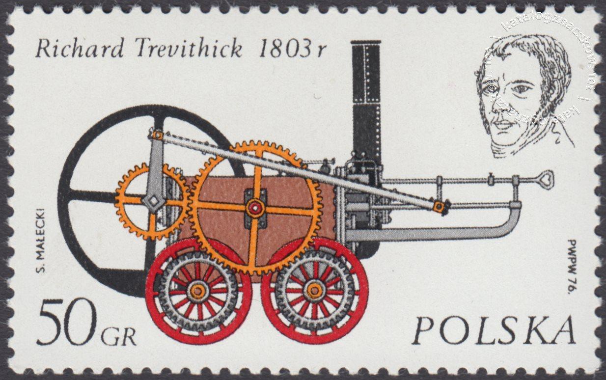Historyczne lokomotywy znaczek nr 2280