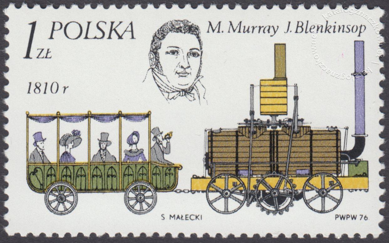 Historyczne lokomotywy znaczek nr 2281