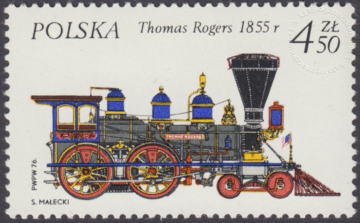Historyczne lokomotywy znaczek nr 2286