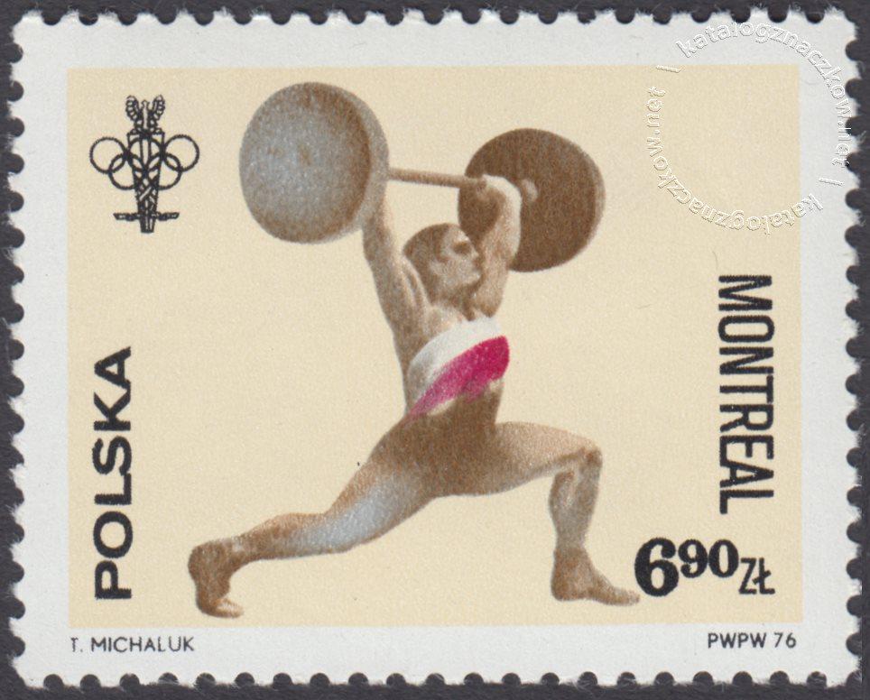 XXI Igrzyska Olimpijskie w Montrealu znaczek nr 2309