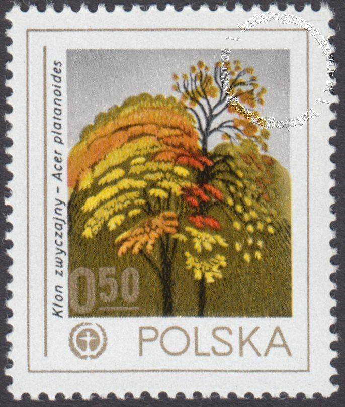 Ochrona środowiska – drzewa znaczek nr 2422