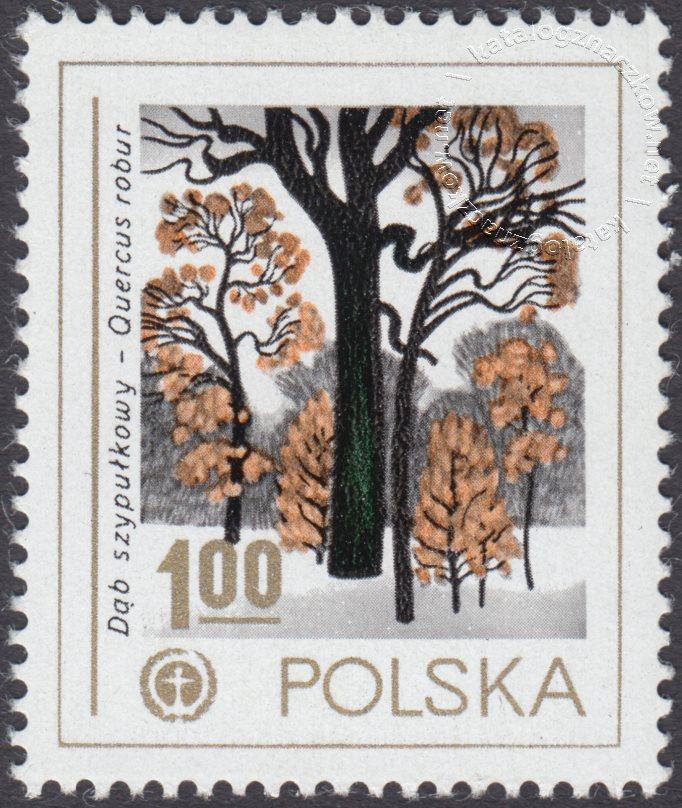 Ochrona środowiska – drzewa znaczek nr 2423