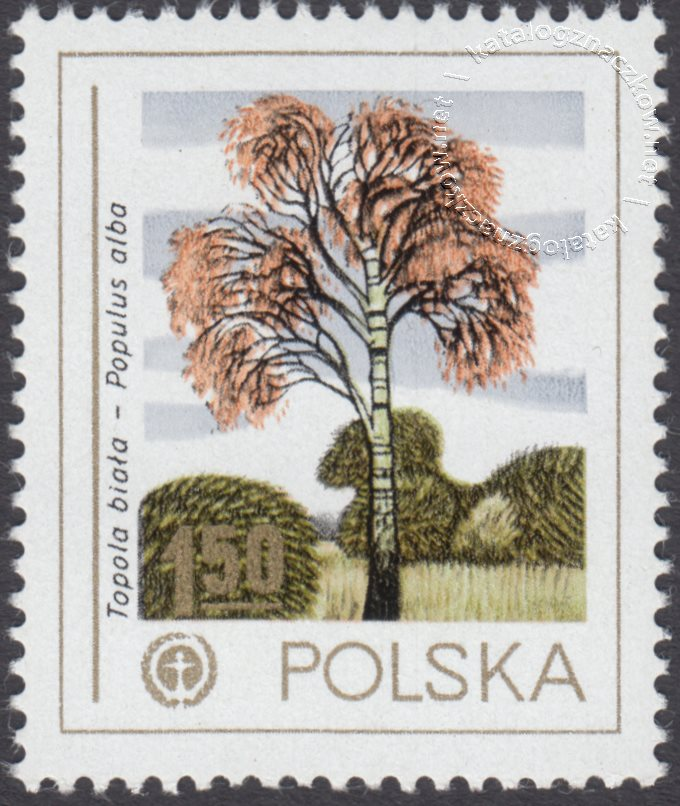 Ochrona środowiska – drzewa znaczek nr 2424