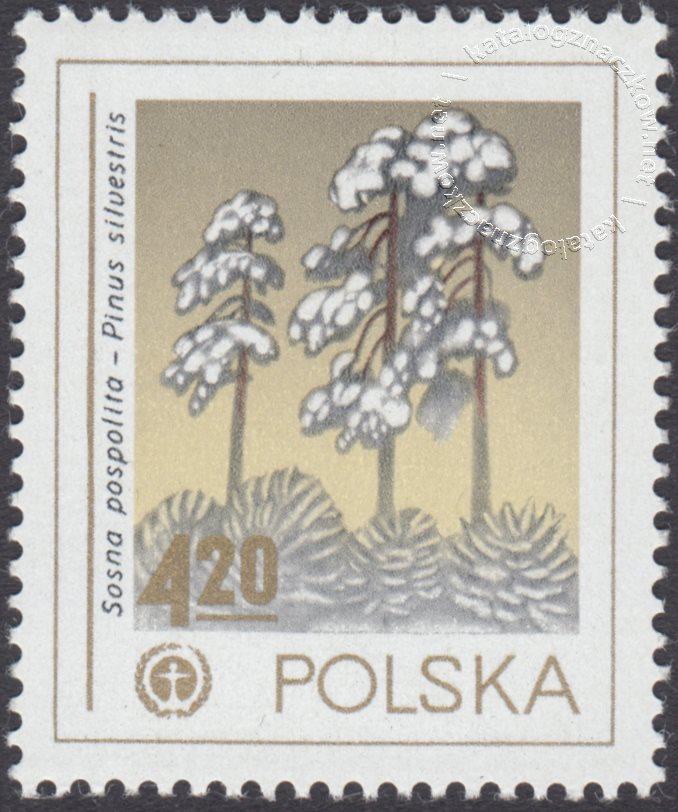 Ochrona środowiska – drzewa znaczek nr 2425