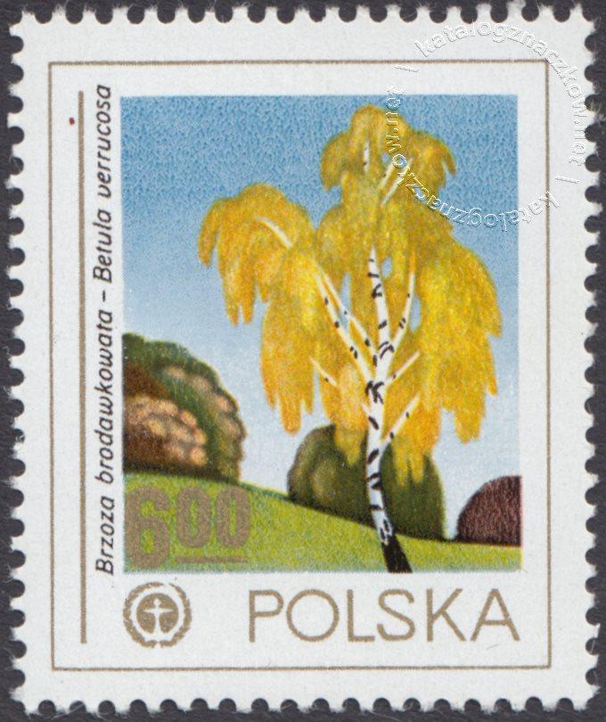 Ochrona środowiska – drzewa znaczek nr 2427