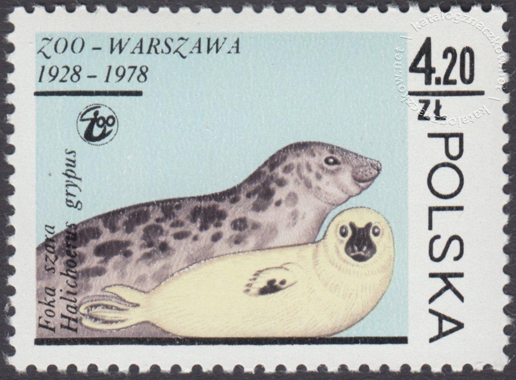 50 lecie warszawskiego ZOO znaczek nr 2441
