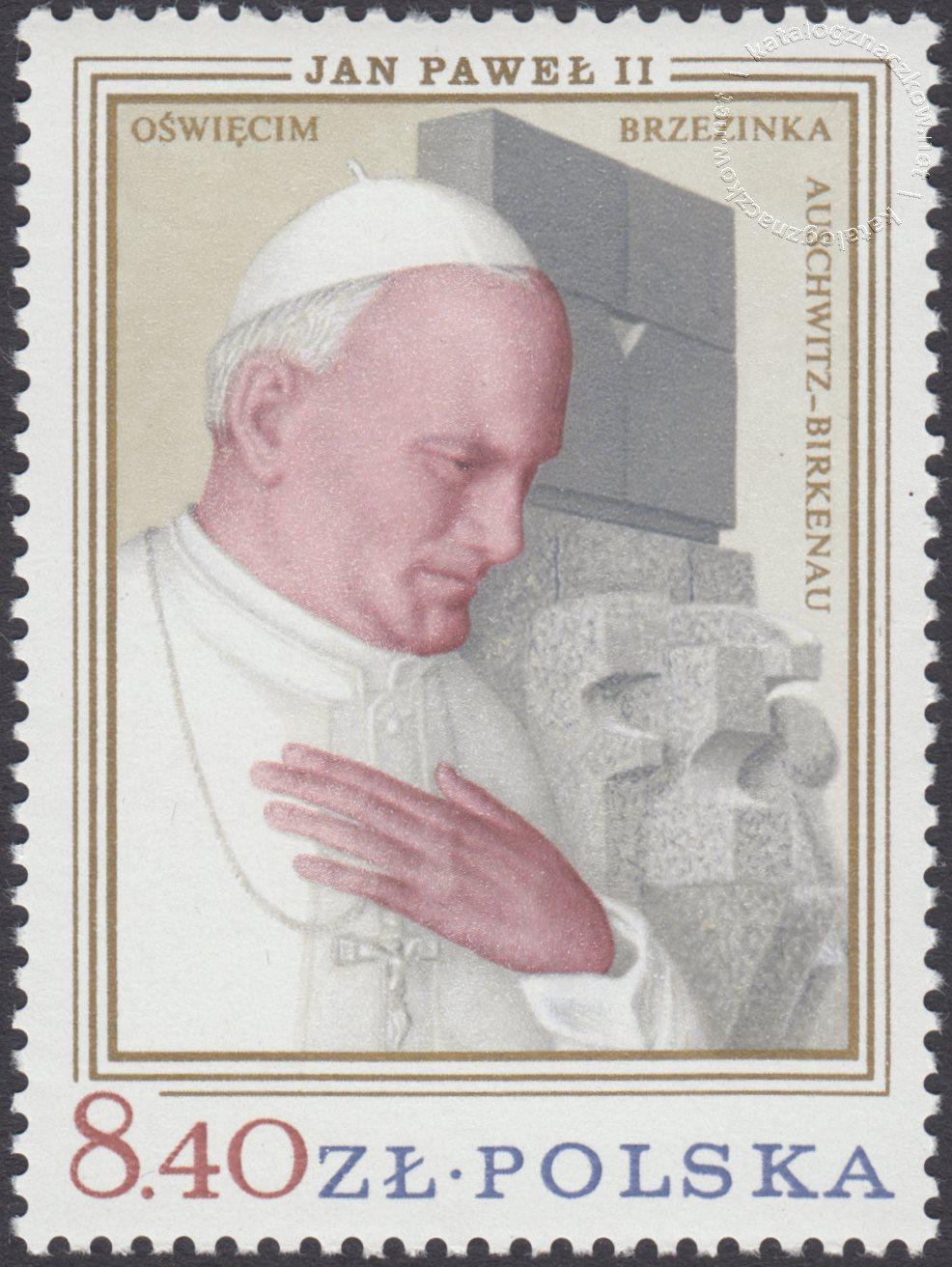 Wizyta papieża Jana Pawła II w Polsce znaczek nr 2483