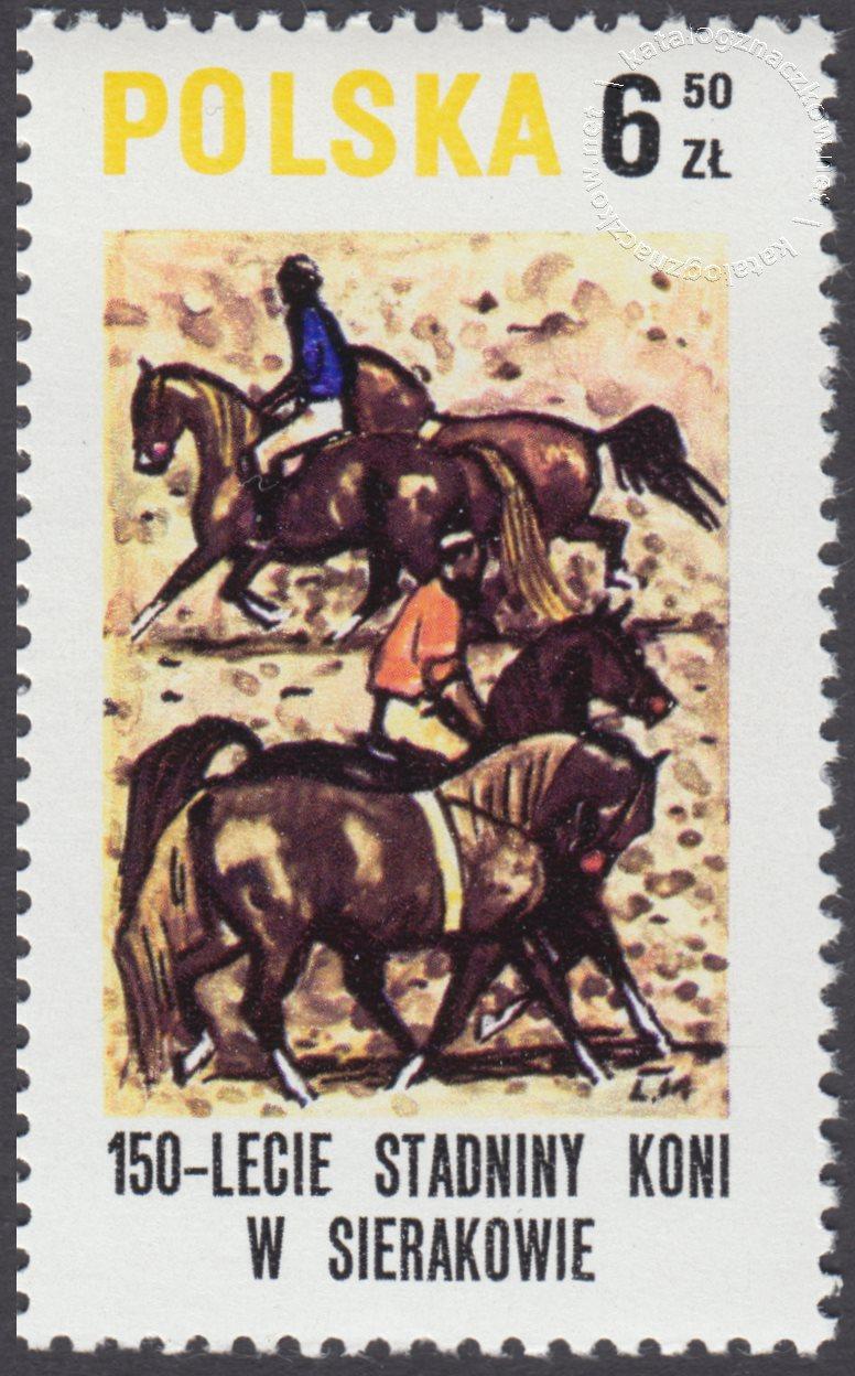 150 lecie stadniny koni w Sierakowie znaczek nr 2522