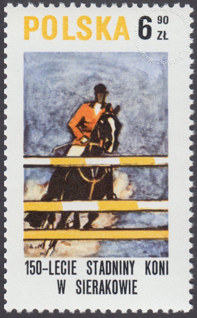 150 lecie stadniny koni w Sierakowie znaczek nr 2523