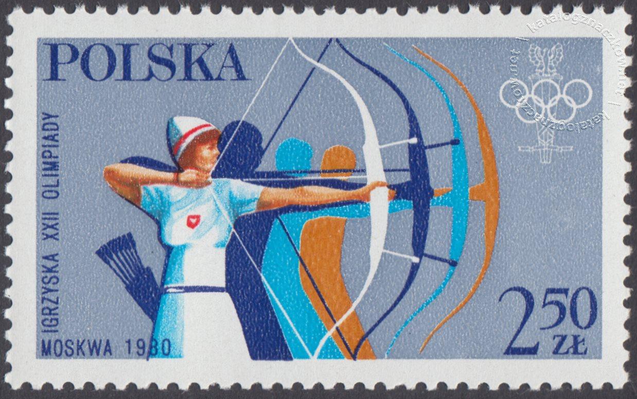 XIII ZIO w Lake Placid i XXII IO w Moskwie znaczek nr 2527