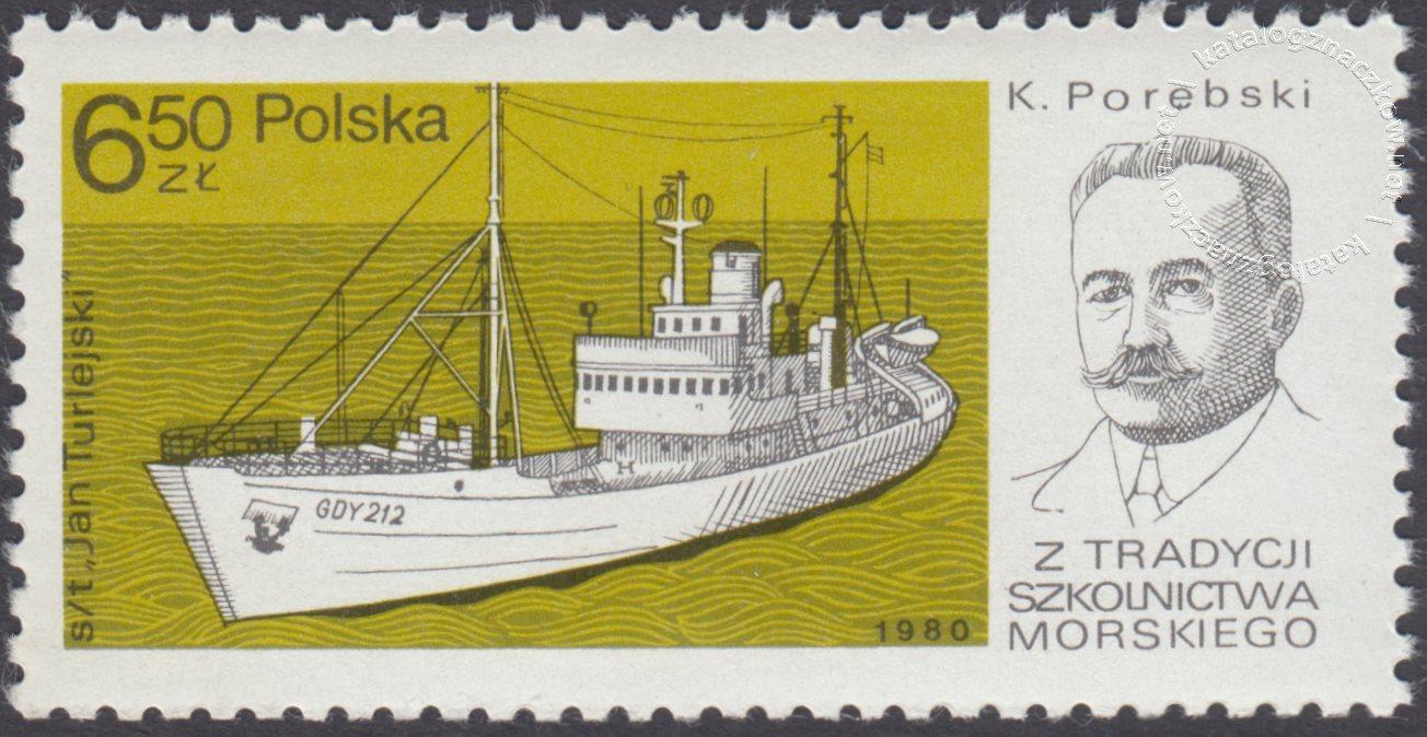 Z tradycji szkolnictwa morskiego znaczek nr 2555