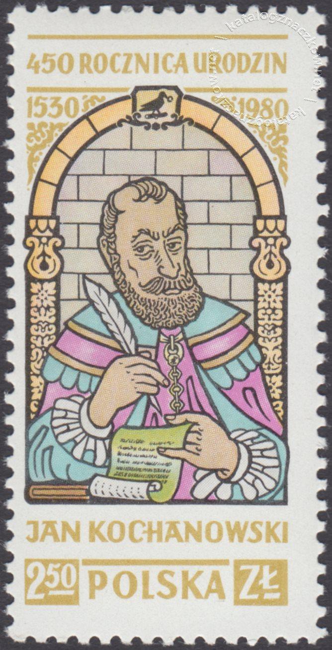 450 rocznica urodzin Jana Kochanowskiego znaczek nr 2564