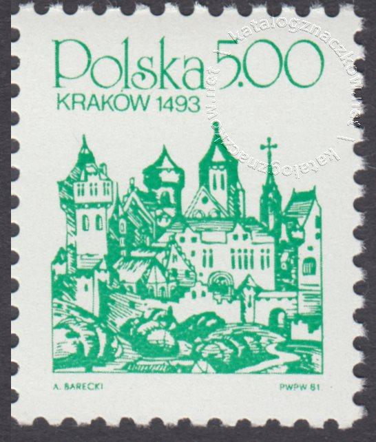 Polskie miasta na starych rycinach znaczek nr 2590