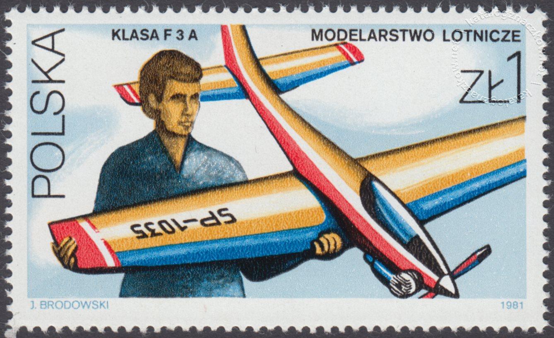 Sport modelarski znaczek nr 2614