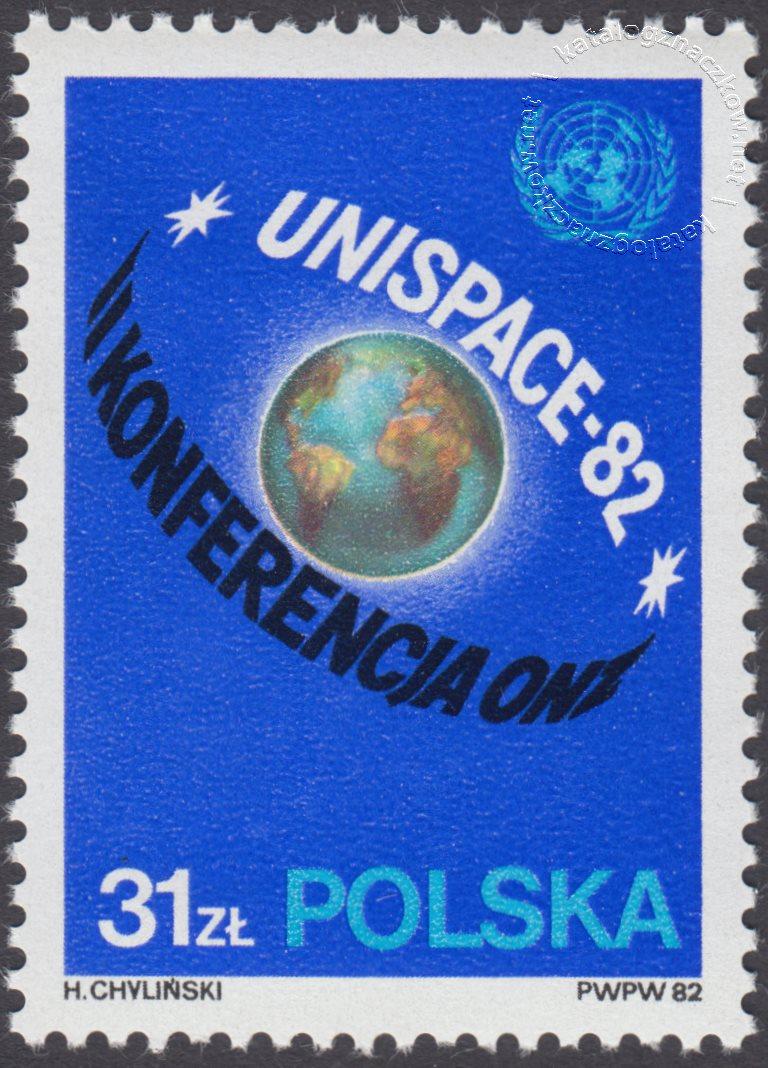 II Konferencja ONZ – Unispace 82 w Wiedniu znaczek nr 2668