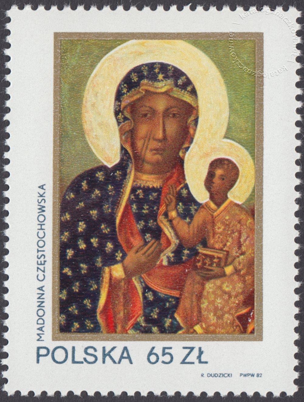 600 lat obecności Obrazu Jasnogórskiego w klasztorze O.O. Paulinów w Częstochowie znaczek nr 2672