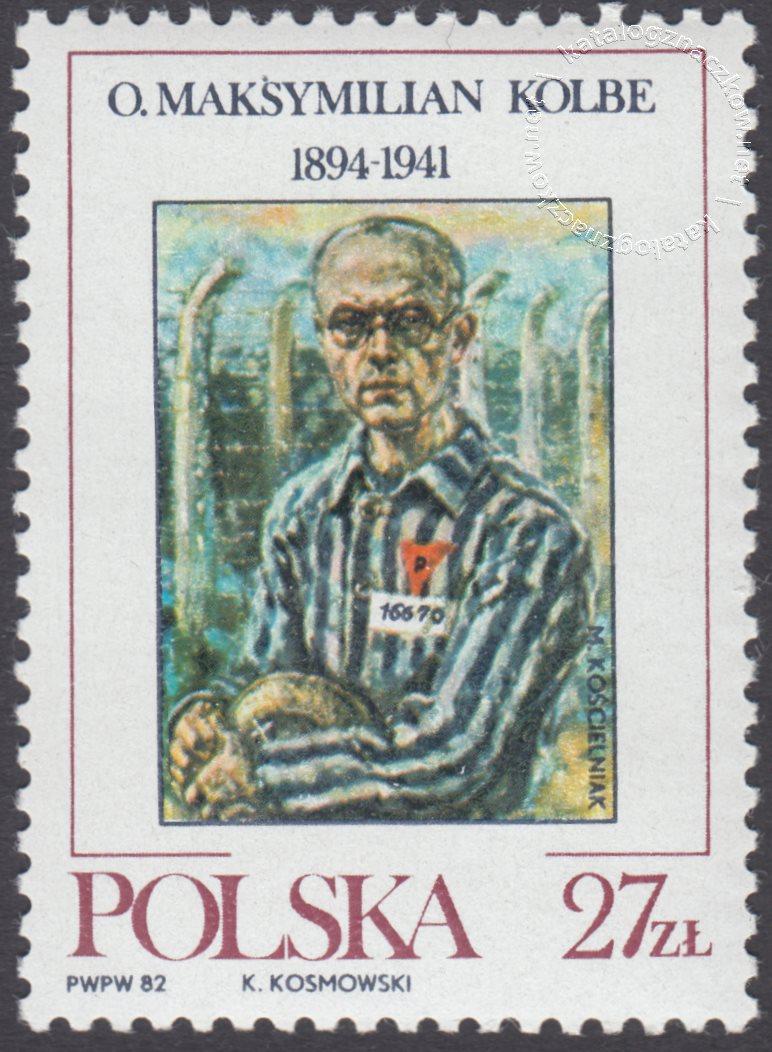 Ojciec Maksymilian Kolbe znaczek nr 2683