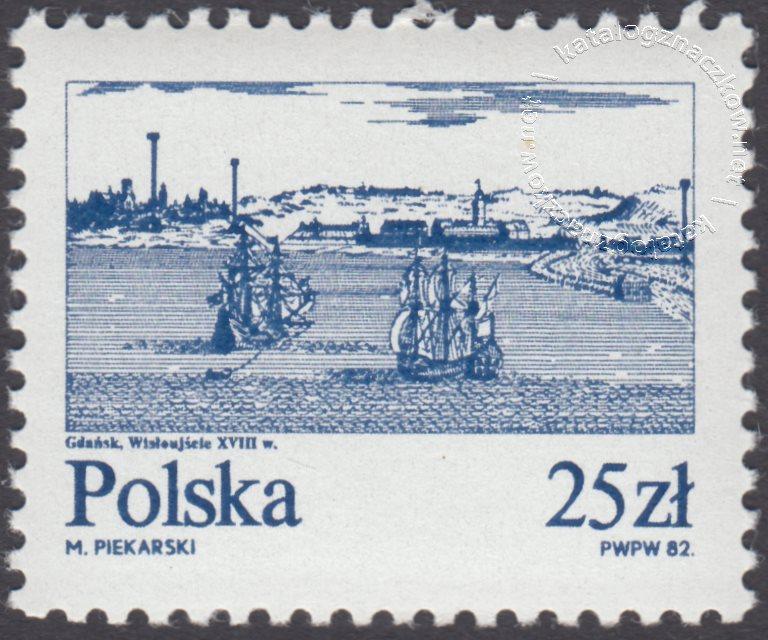 Stare miasta nad Wisłą znaczek nr 2687