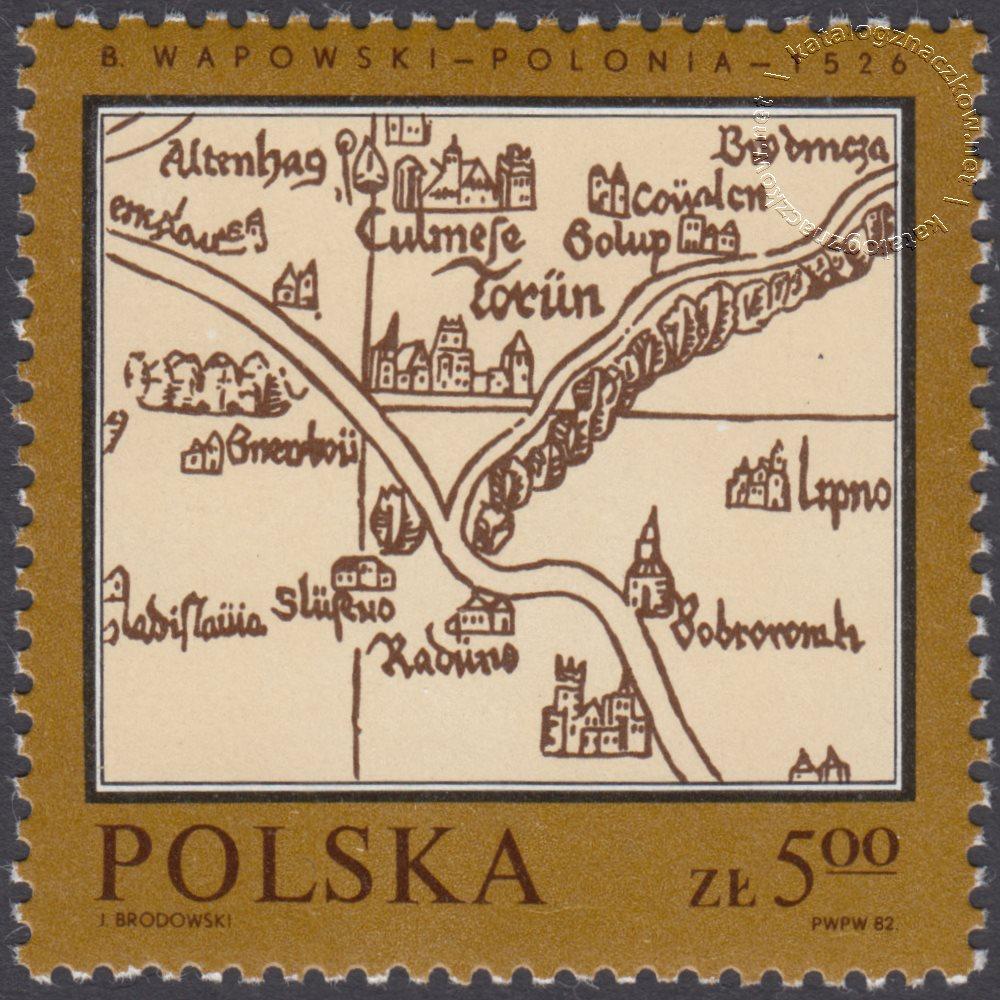 Pomniki polskiej kartografii znaczek nr 2696