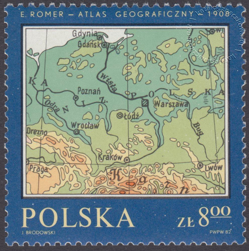 Pomniki polskiej kartografii znaczek nr 2698