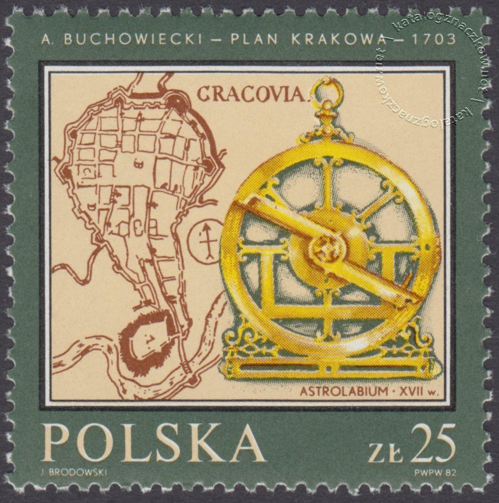 Pomniki polskiej kartografii znaczek nr 2699