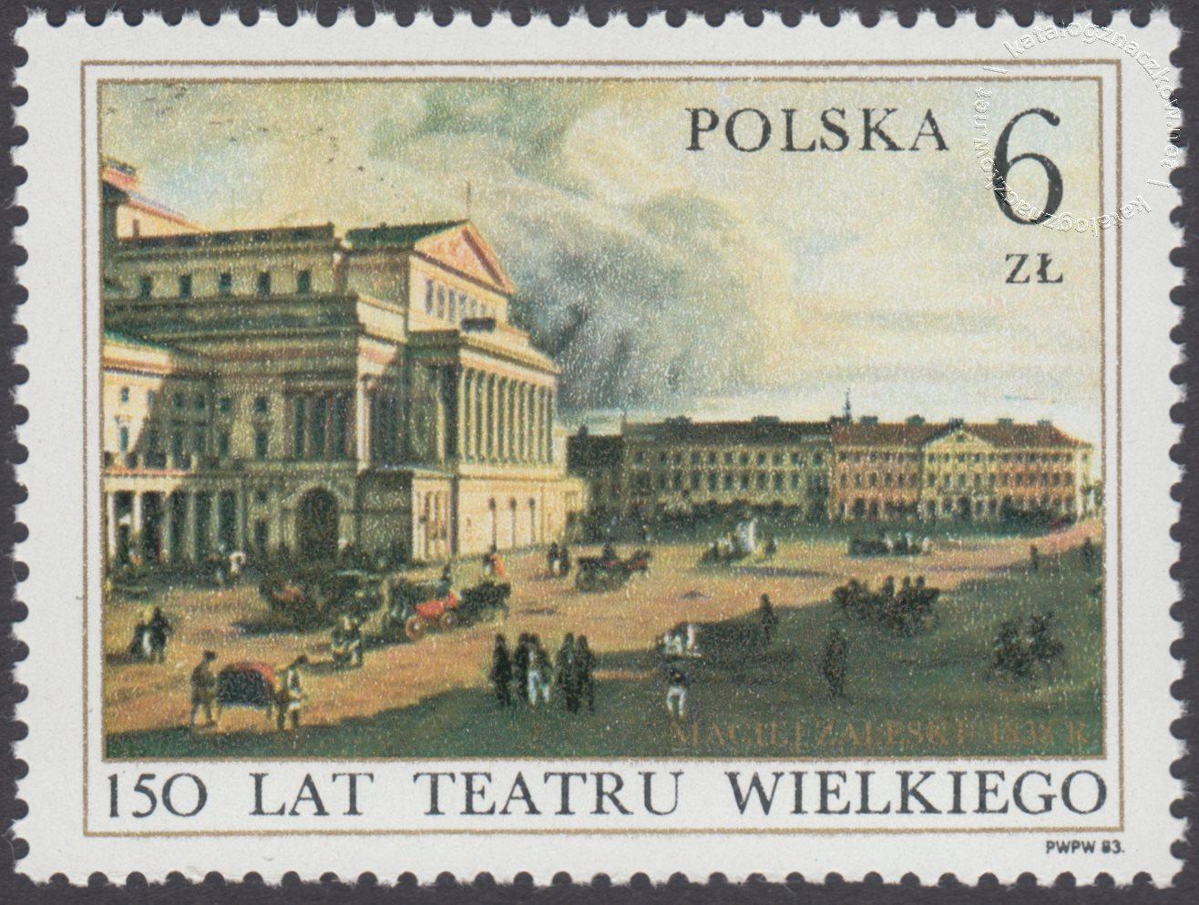 150 lat Teatru Wielkiego w Warszawie znaczek nr 2701