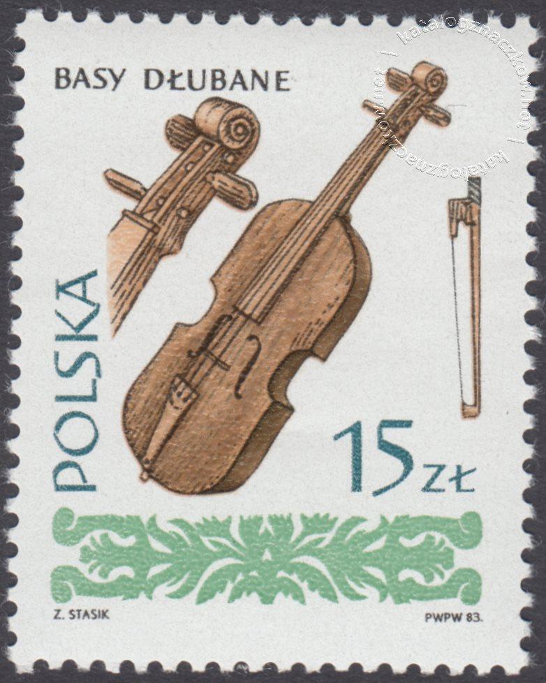 Polskie ludowe instrumenty muzyczne znaczek nr 2754