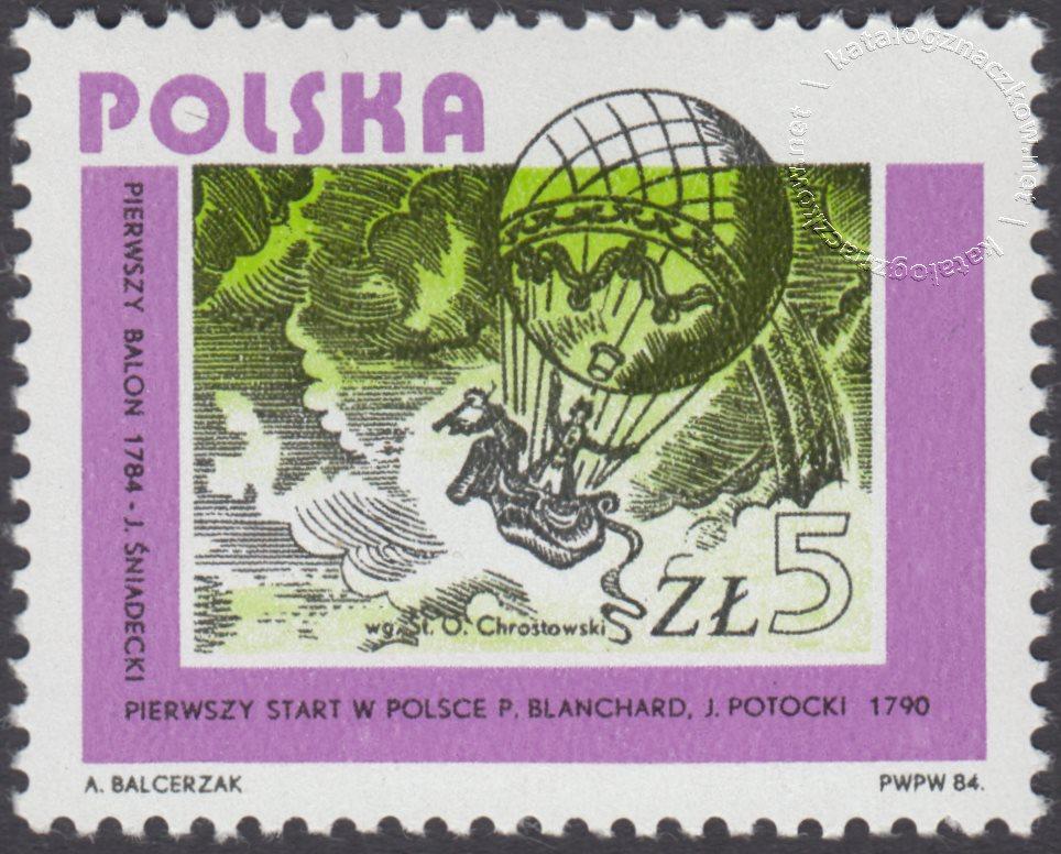 Rozwój lotnictwa polskiego znaczek nr 2791