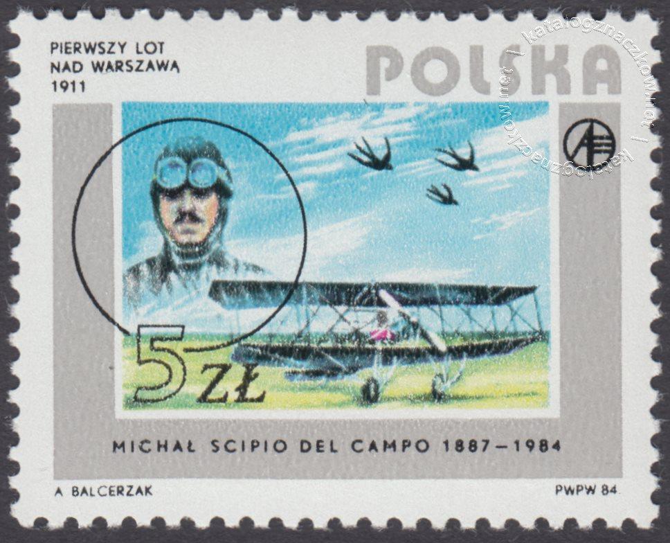 Rozwój lotnictwa polskiego znaczek nr 2792