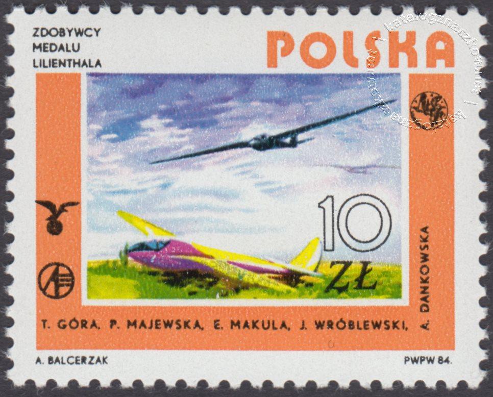 Rozwój lotnictwa polskiego znaczek nr 2794