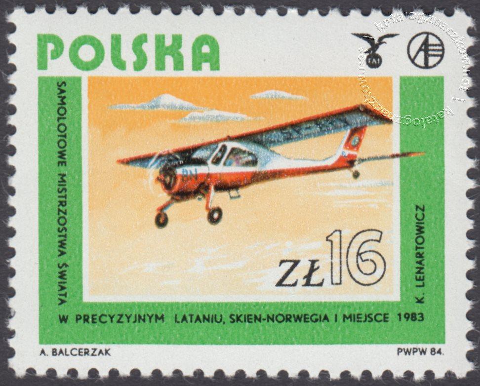 Rozwój lotnictwa polskiego znaczek nr 2795