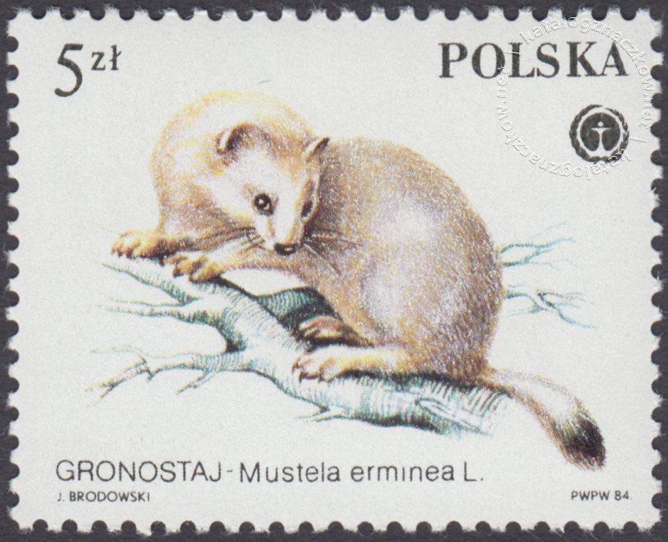Chronione zwierzęta futerkowe znaczek nr 2800