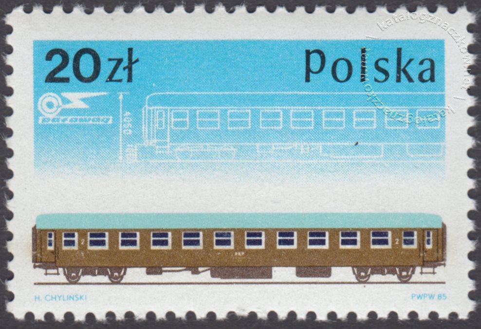 40 lecie fabryki taboru kolejowy PAFAWAG we Wrocławiu znaczek nr 2848