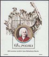 300 rocznica urodzin Jana Sebastiana Bacha - Blok 83II