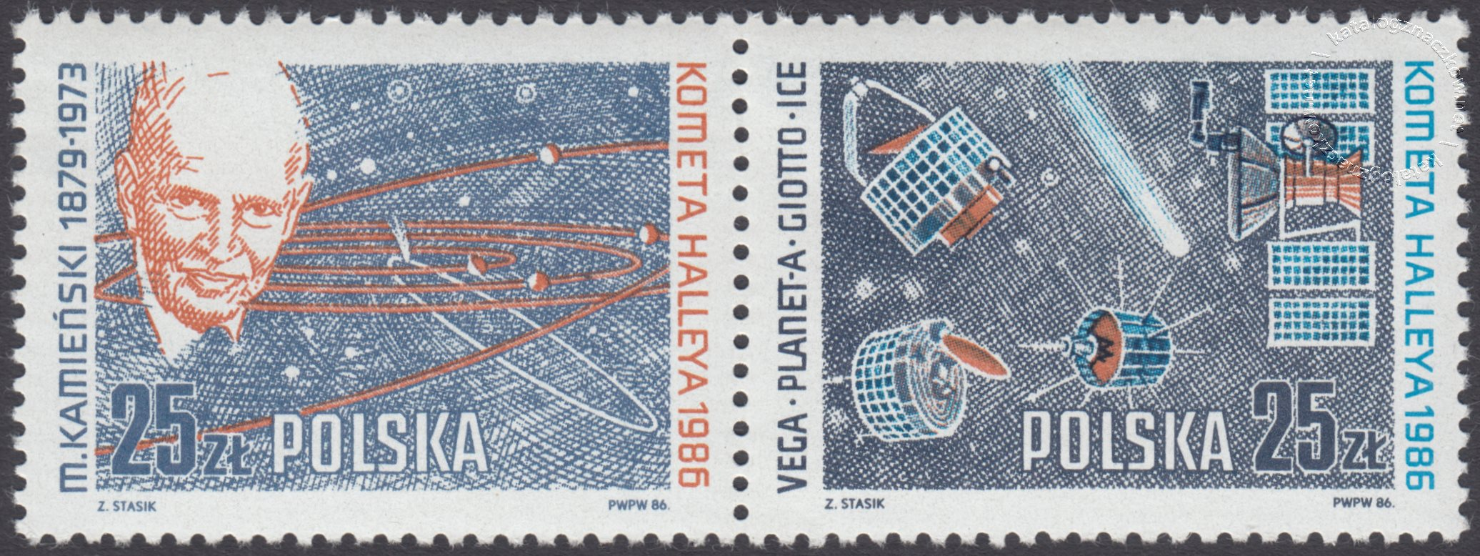 Kometa Halleya znaczki nr 2866-2867