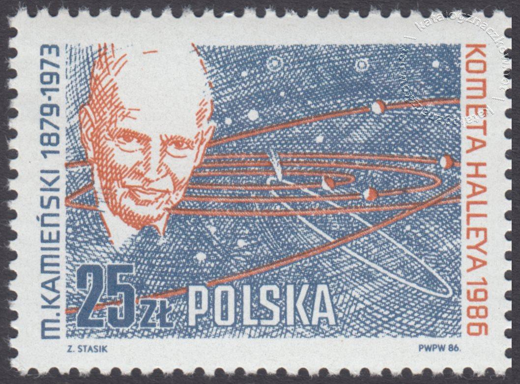Kometa Halleya znaczek nr 2866