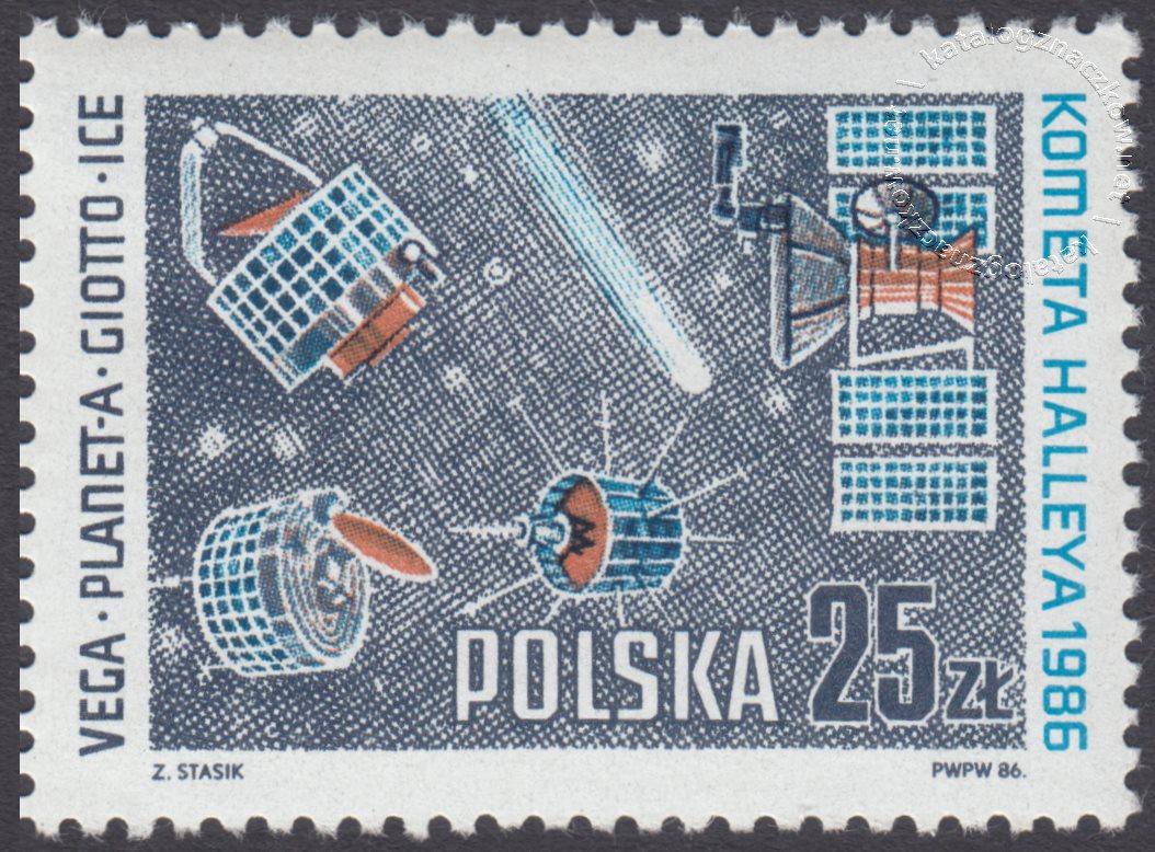 Kometa Halleya znaczek nr 2867