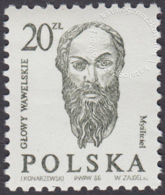 Głowy wawelskie znaczek nr 2888