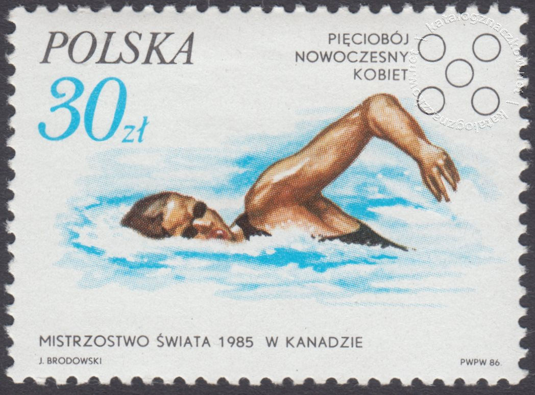 Sukcesy polskich sportowców znaczek nr 2899