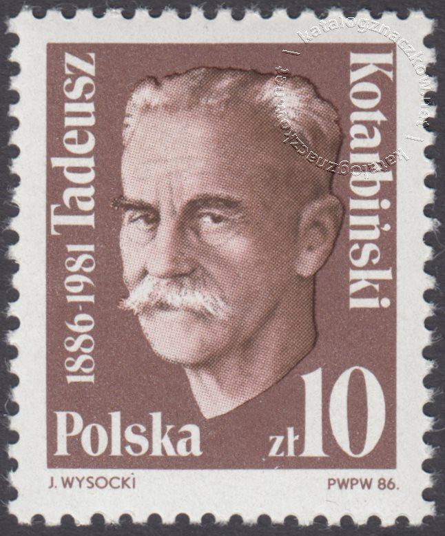 100 rocznica urodzin Tadeusza Kotarbińskiego znaczek nr 2911
