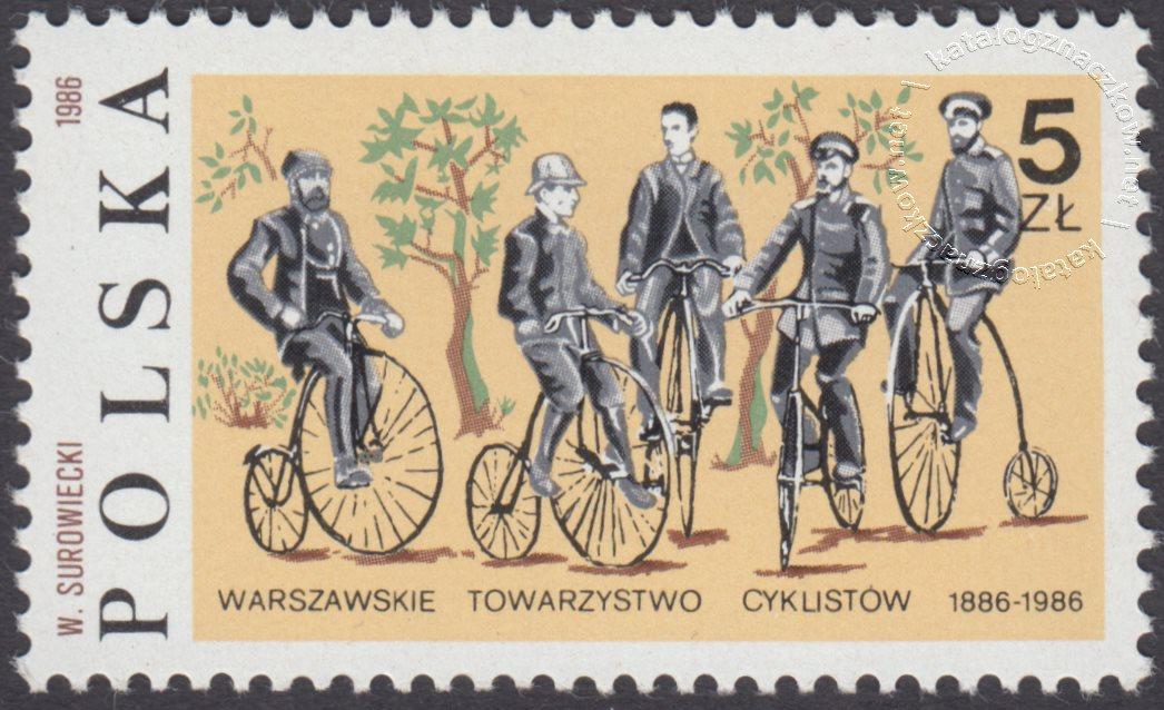 100 lecie Warszawskiego Towarzystwa Cyklistów znaczek nr 2921
