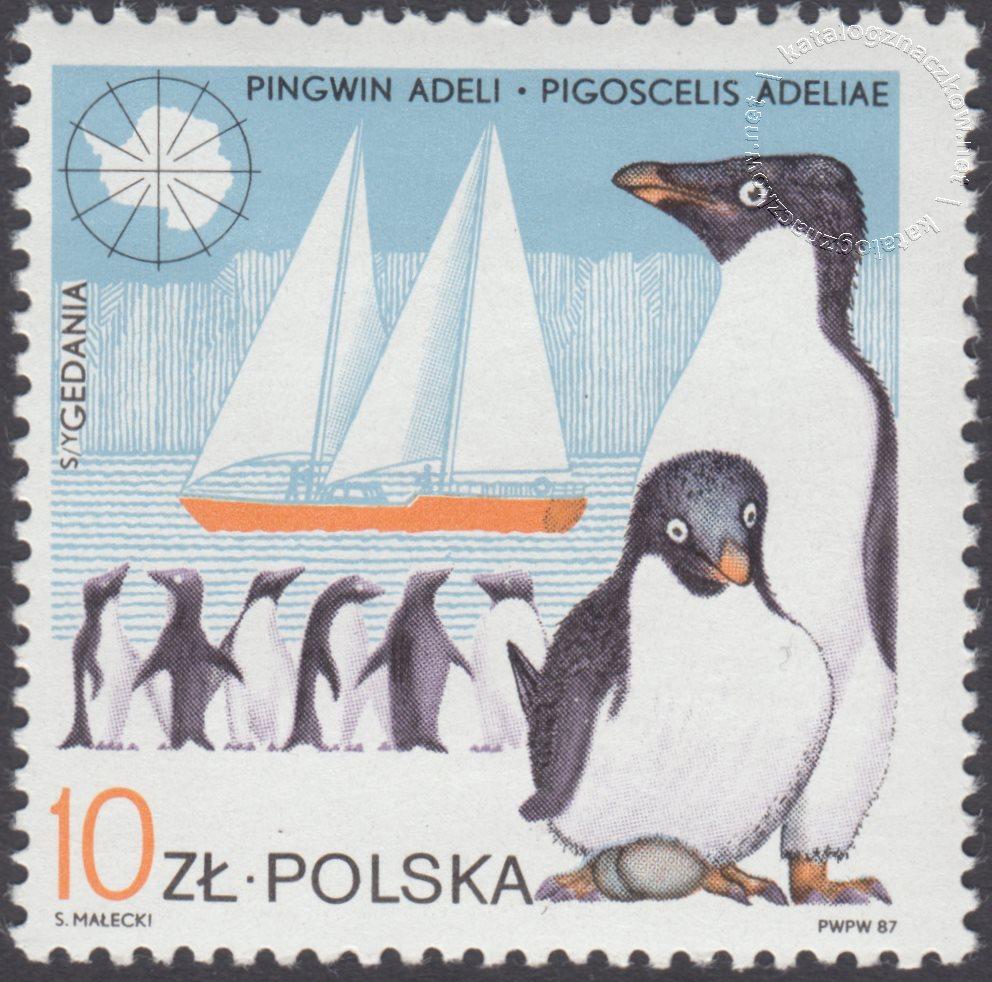 10 lecie Polskiej Stacji Arktycznej im.H.Arctowskiego znaczek nr 2931