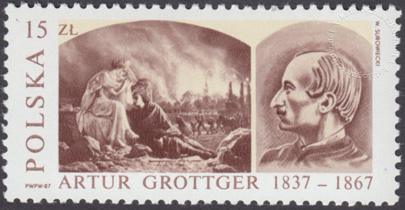 150 rocznica urodzin Artura Grottgera znaczek nr 2940