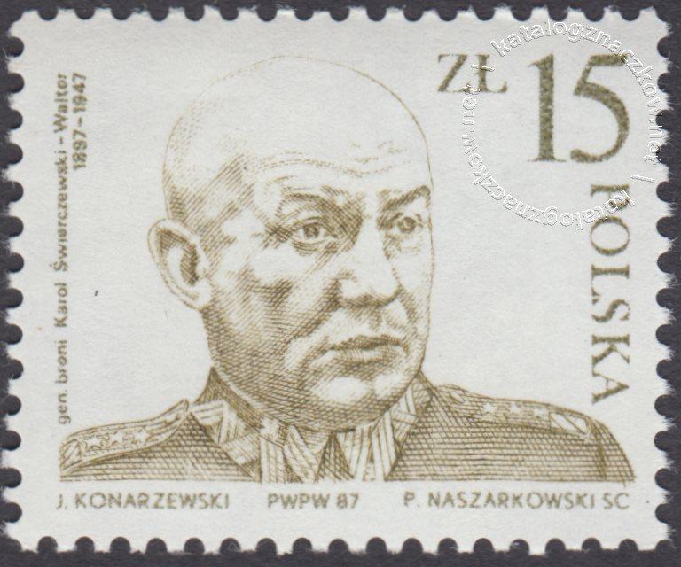 40 rocznica śmierci Karola Świerczewskiego znaczek nr 2941