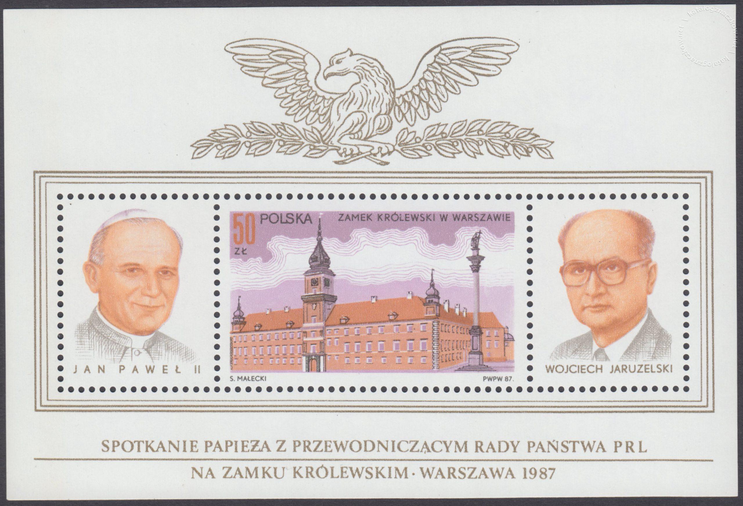 Zamek Królewski. Spotkanie papieża Jana Pawła II z gen W.Jaruzelskim – Blok 88