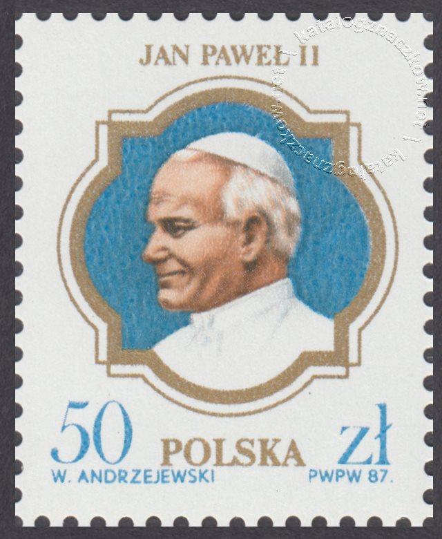 III wizyta papieża Jana Pawła II w Polsce znaczek nr 2953