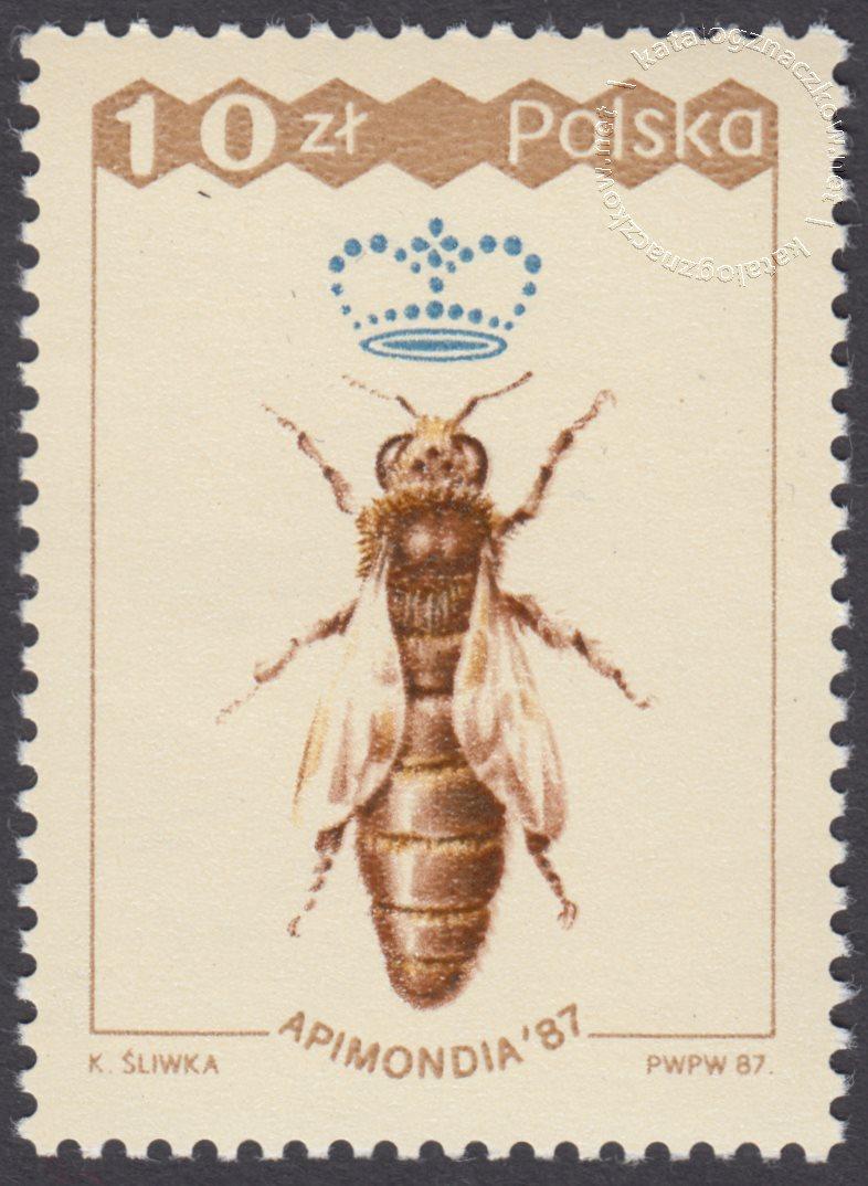 XXXI Międzynarodowy kongres Pszczelarski Apinodia 87 znaczek nr 2958