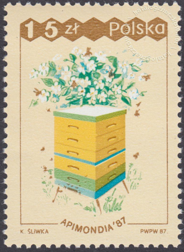 XXXI Międzynarodowy kongres Pszczelarski Apinodia 87 znaczek nr 2961